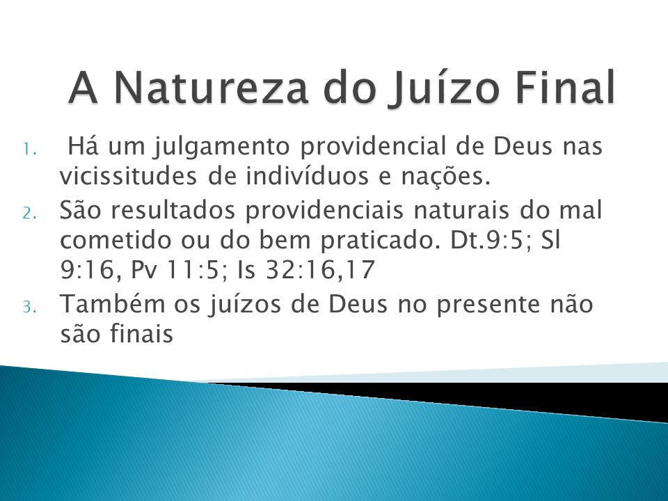 A Natureza do Juízo Final