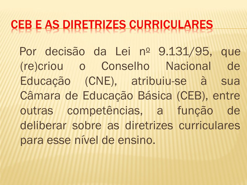 CEB e as Diretrizes Curriculares