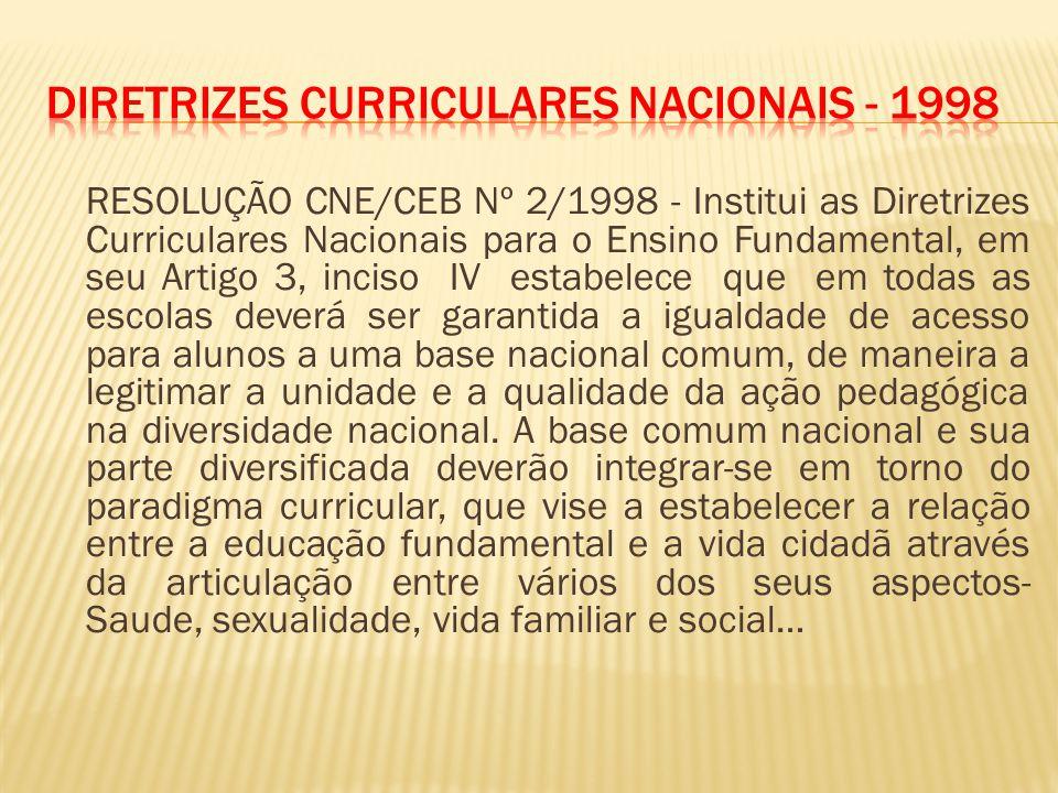 Diretrizes Curriculares Nacionais - 1998