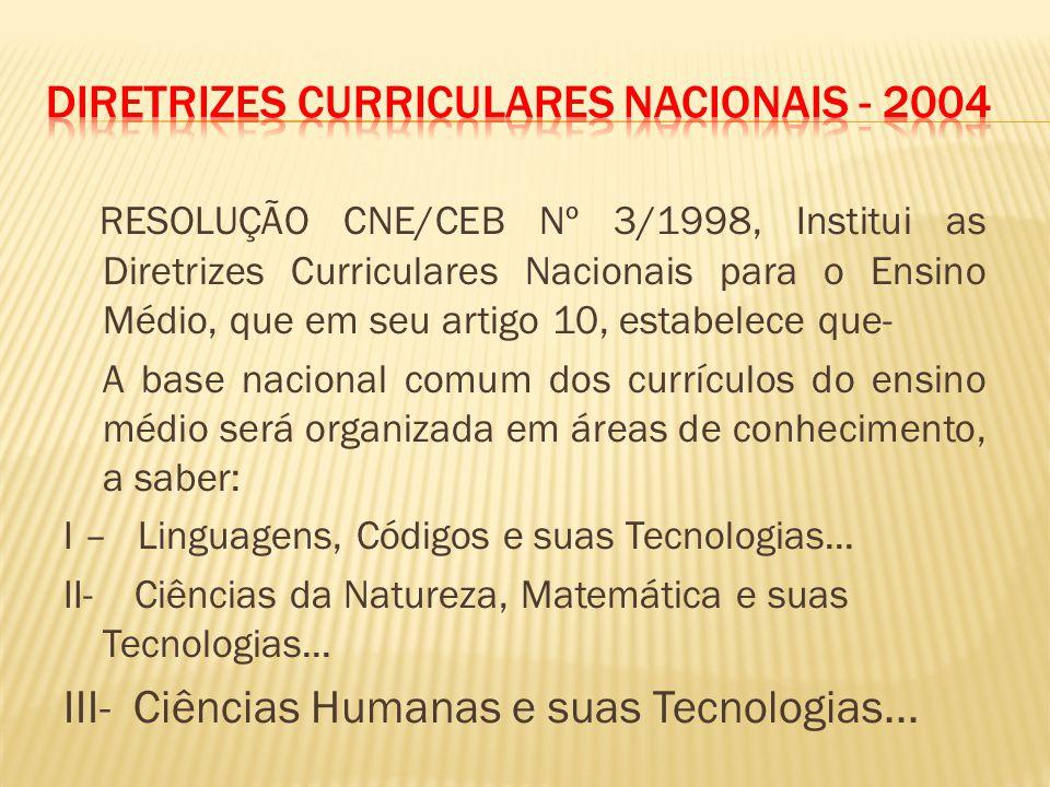 Diretrizes Curriculares Nacionais - 2004