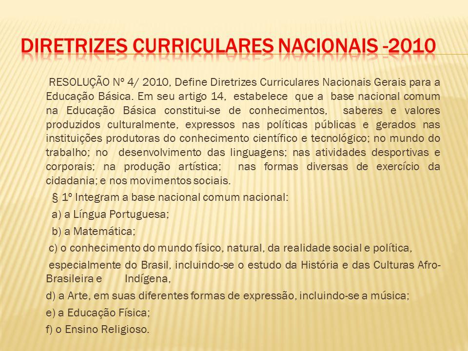 Diretrizes Curriculares Nacionais -2010