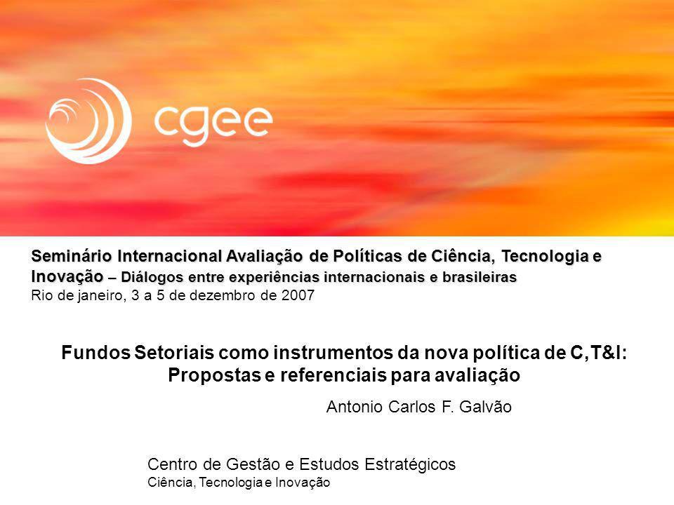 Seminário Internacional Avaliação de Políticas de Ciência, Tecnologia e Inovação – Diálogos entre experiências internacionais e brasileiras