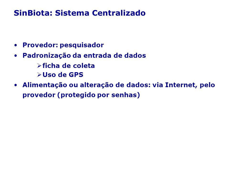 SinBiota: Sistema Centralizado