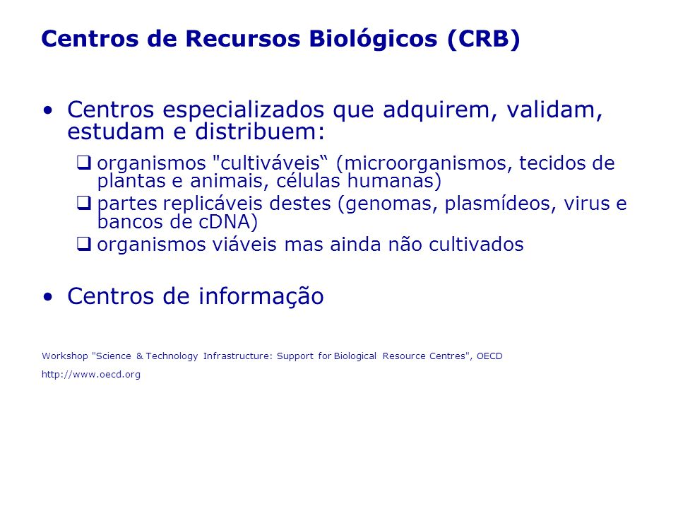 Centros de Recursos Biológicos (CRB)