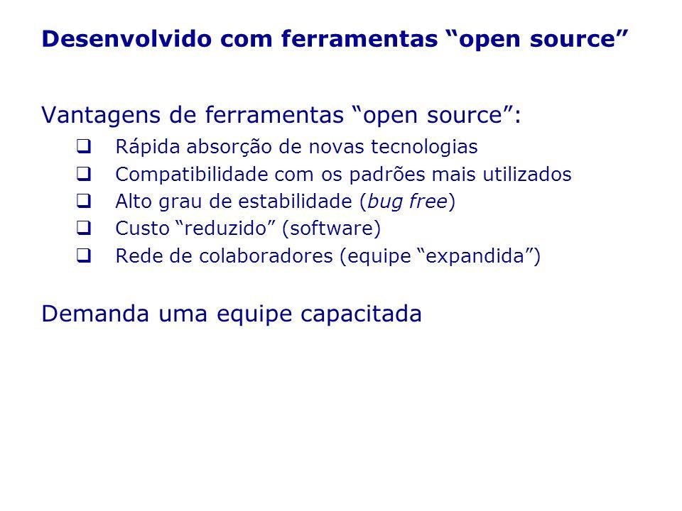 Desenvolvido com ferramentas open source