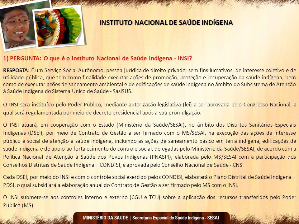 INSTITUTO NACIONAL DE SAÚDE INDÍGENA