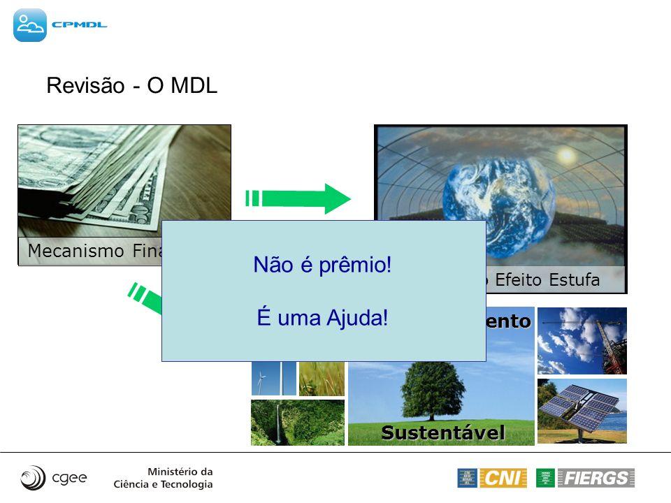 Revisão - O MDL Não é prêmio! É uma Ajuda! Desenvolvimento Sustentável