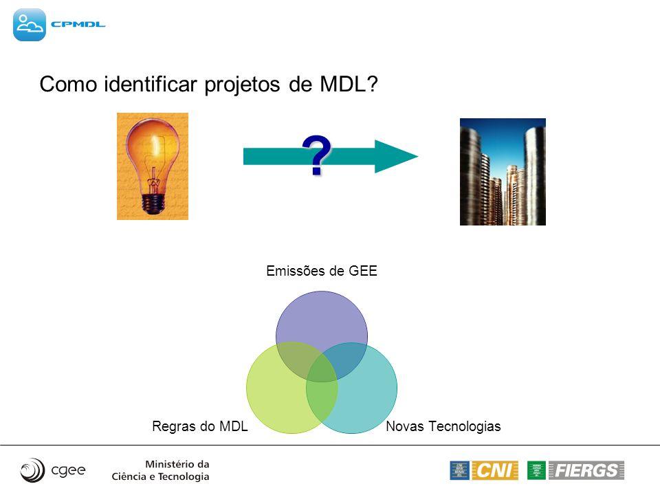 Como identificar projetos de MDL