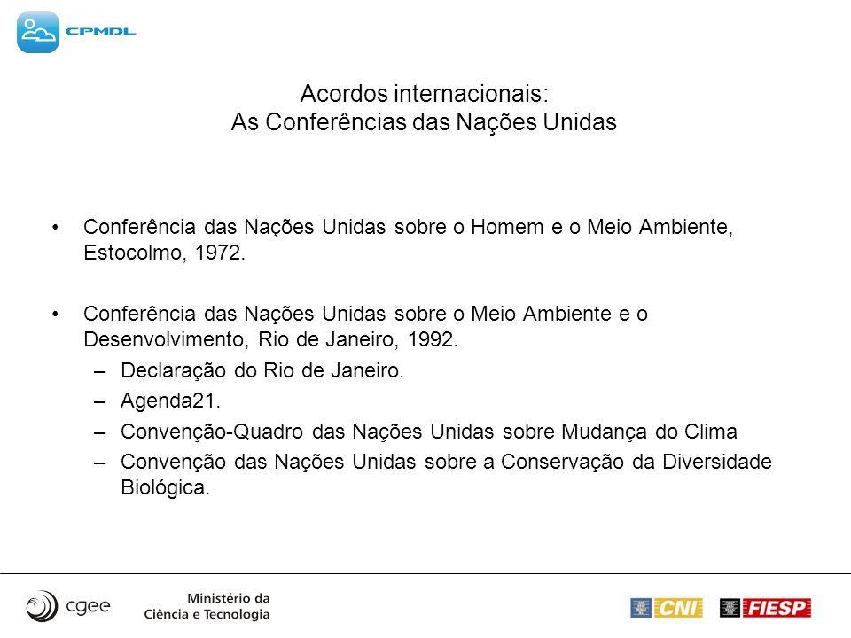 Acordos internacionais: As Conferências das Nações Unidas