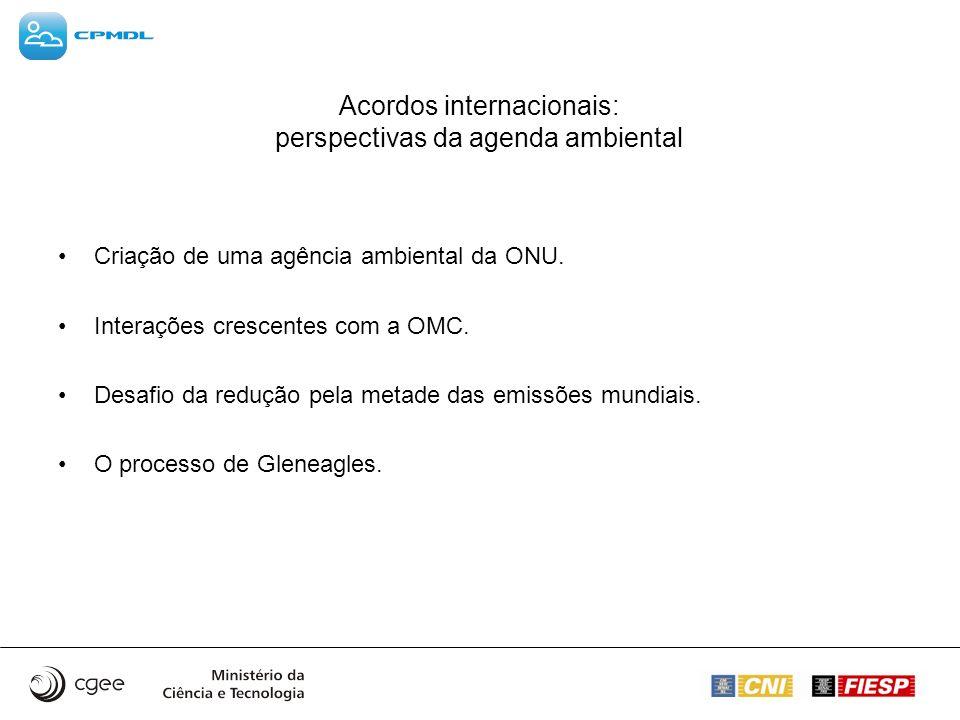 Acordos internacionais: perspectivas da agenda ambiental