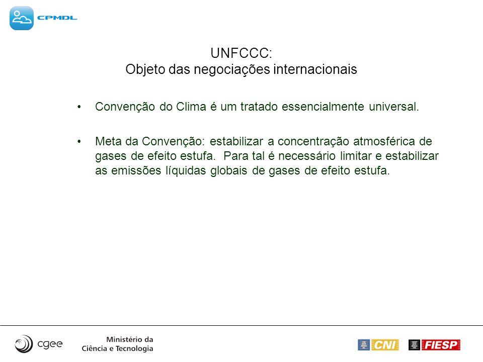 UNFCCC: Objeto das negociações internacionais