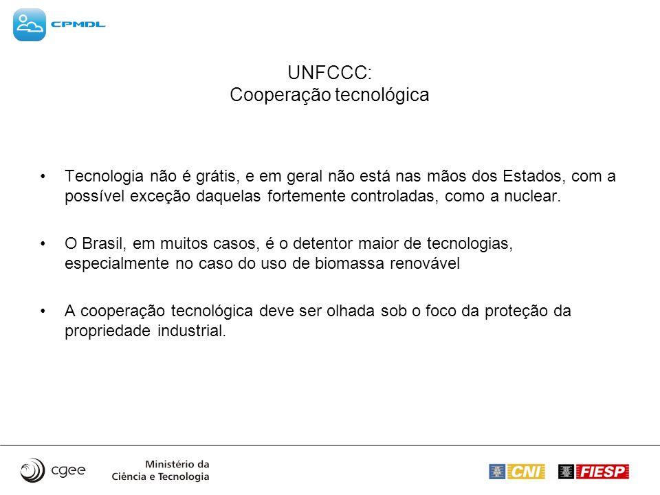 UNFCCC: Cooperação tecnológica