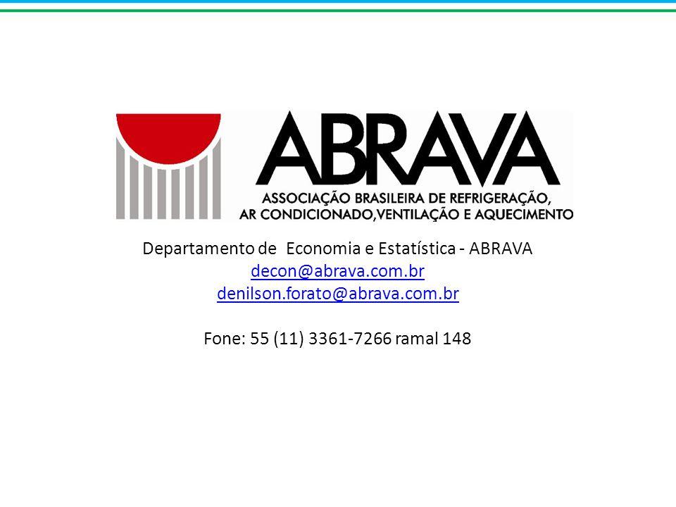 Departamento de Economia e Estatística - ABRAVA decon@abrava. com