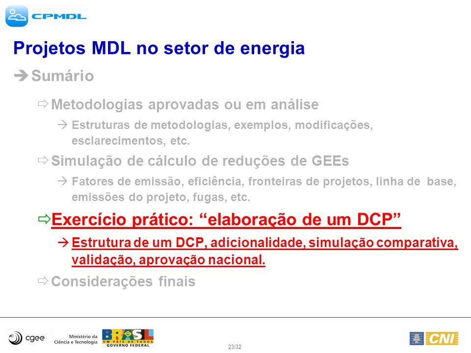 Projetos MDL no setor de energia