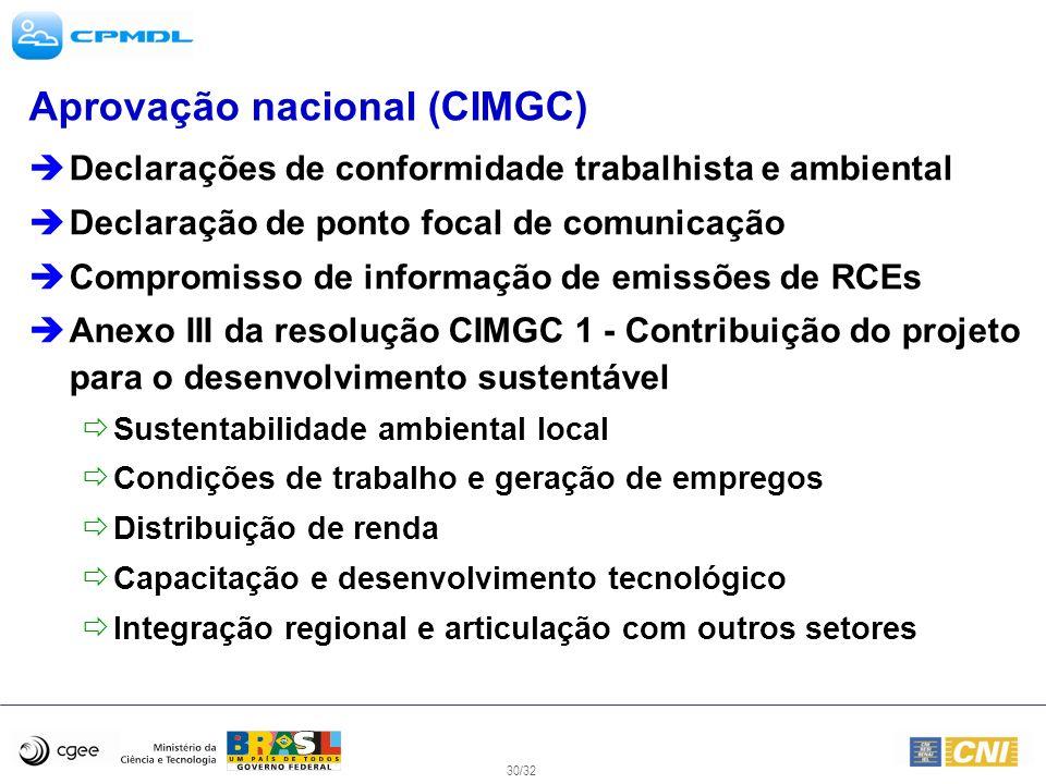 Aprovação nacional (CIMGC)