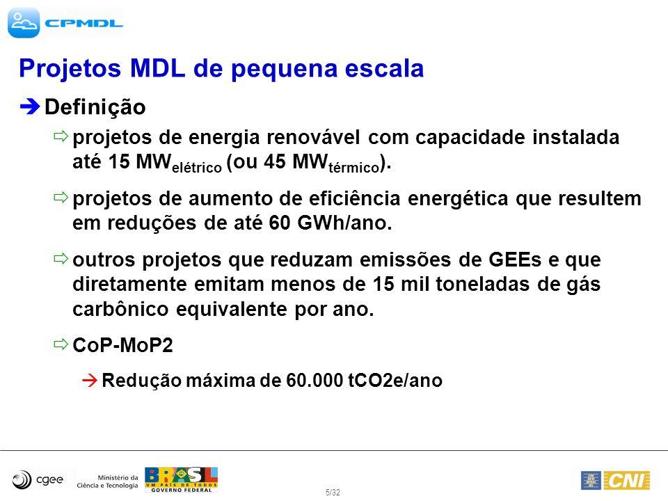 Projetos MDL de pequena escala
