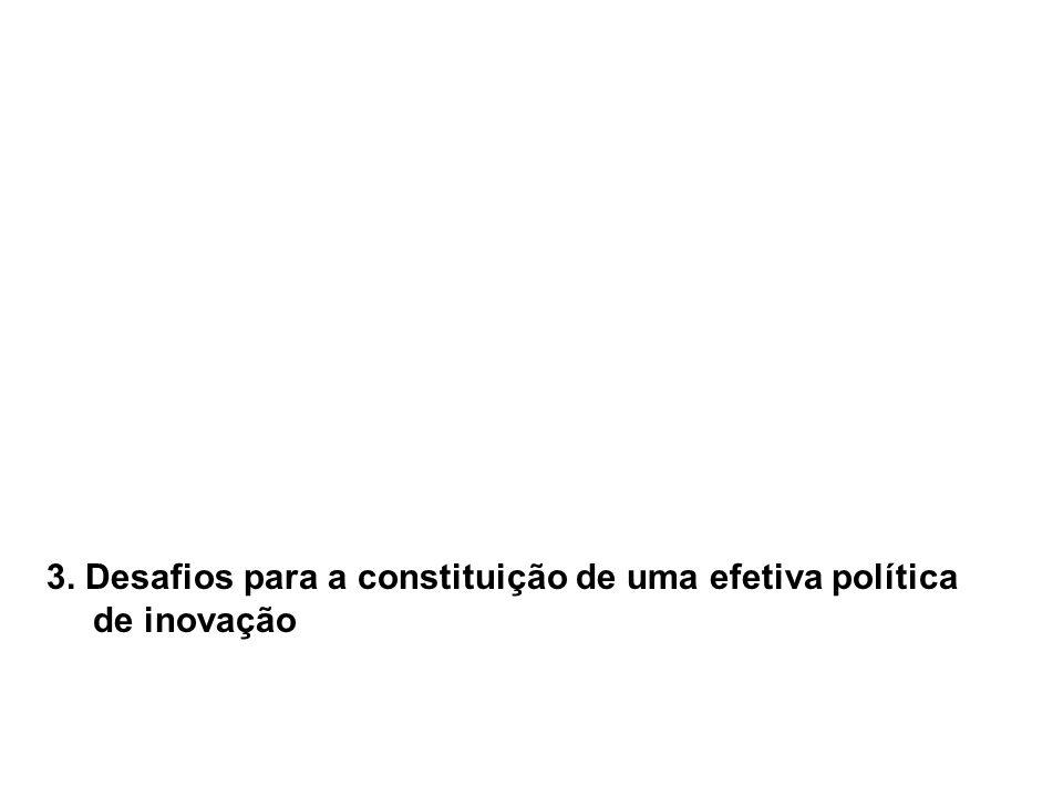 3. Desafios para a constituição de uma efetiva política de inovação