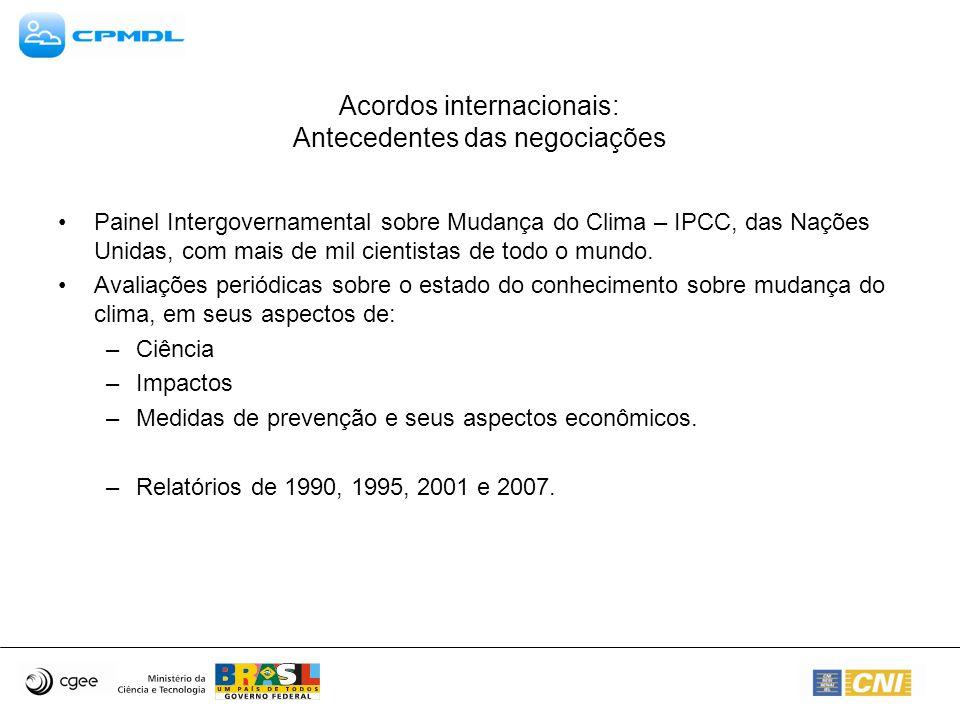 Acordos internacionais: Antecedentes das negociações