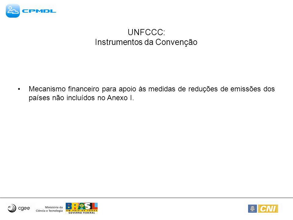 UNFCCC: Instrumentos da Convenção