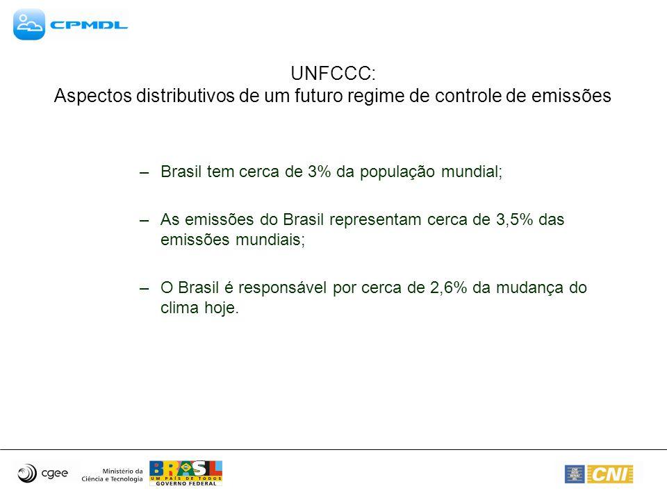 UNFCCC: Aspectos distributivos de um futuro regime de controle de emissões