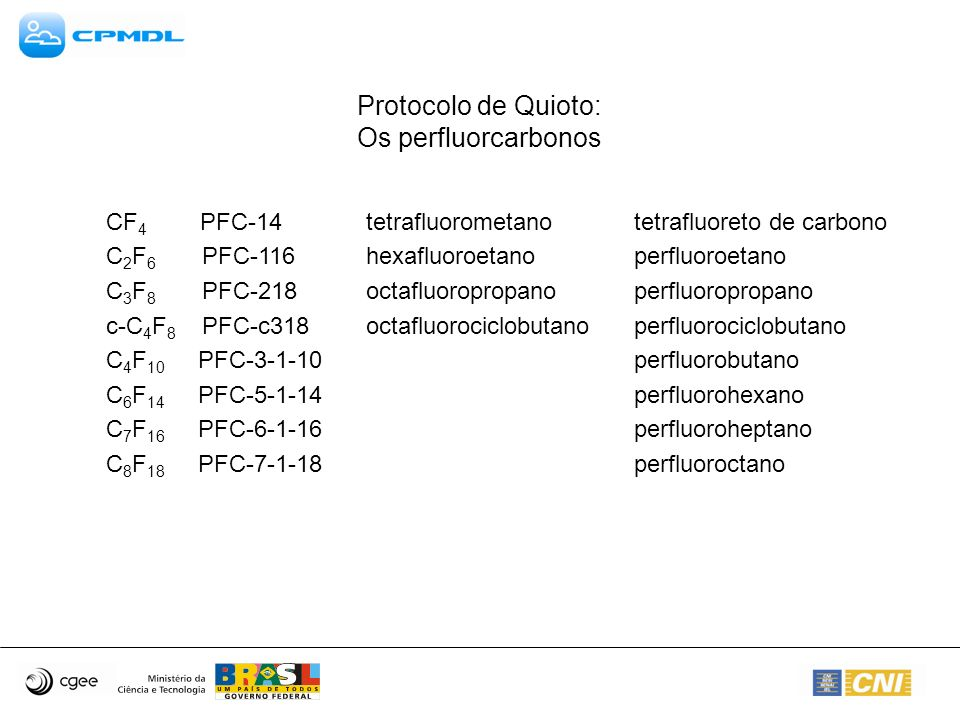 Protocolo de Quioto: Os perfluorcarbonos