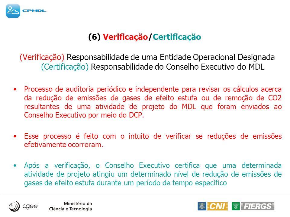 (6) Verificação/Certificação