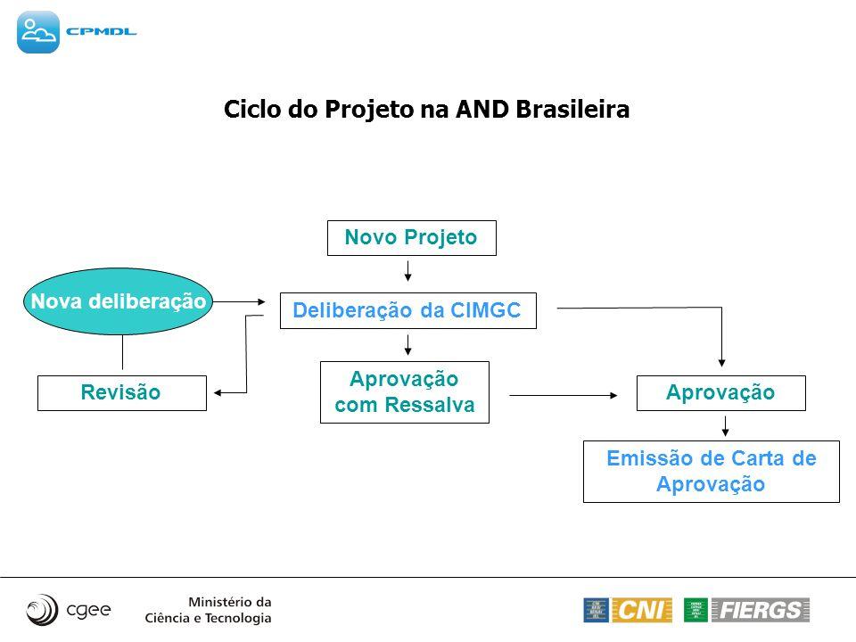 Ciclo do Projeto na AND Brasileira