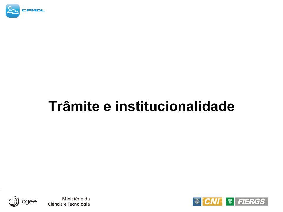 Trâmite e institucionalidade