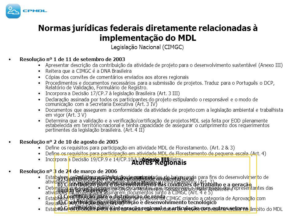 Legislação Nacional (CIMGC)