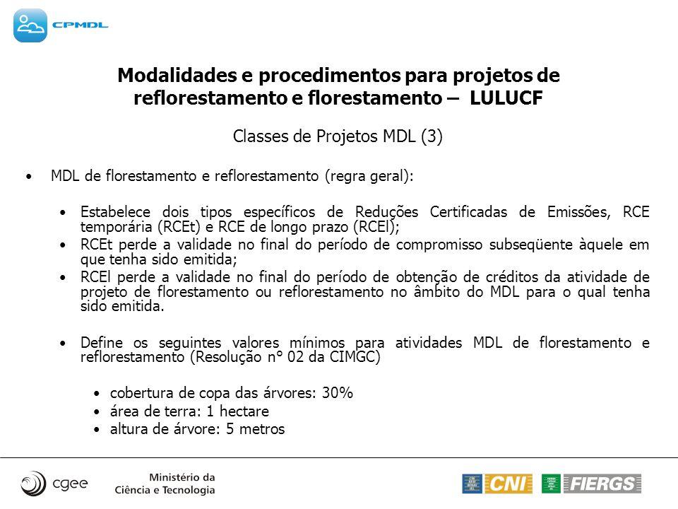 Classes de Projetos MDL (3)