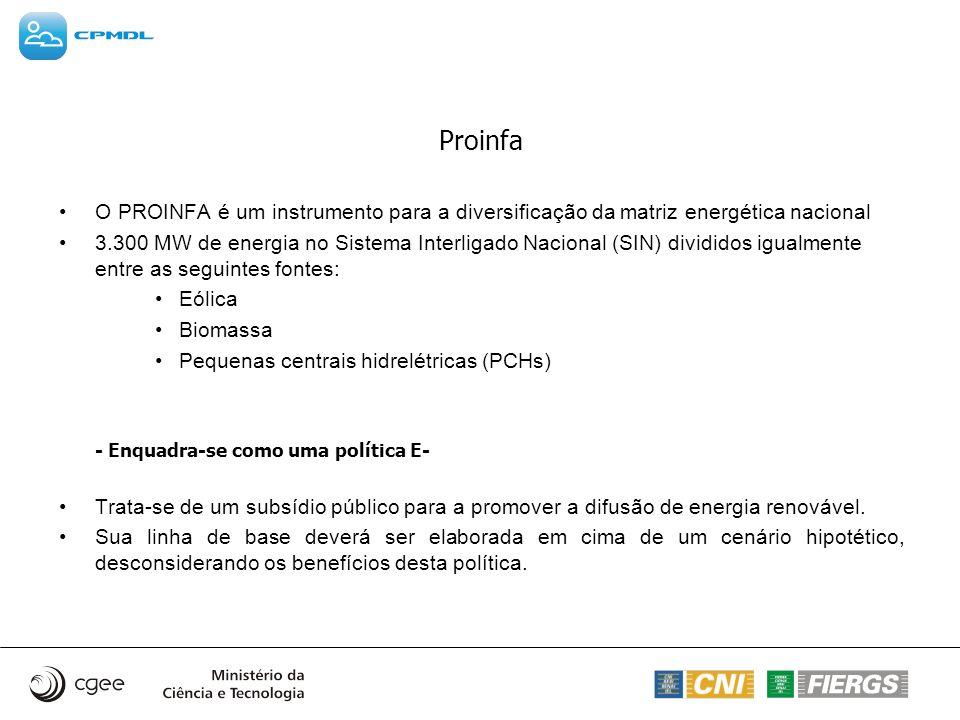 Proinfa O PROINFA é um instrumento para a diversificação da matriz energética nacional.