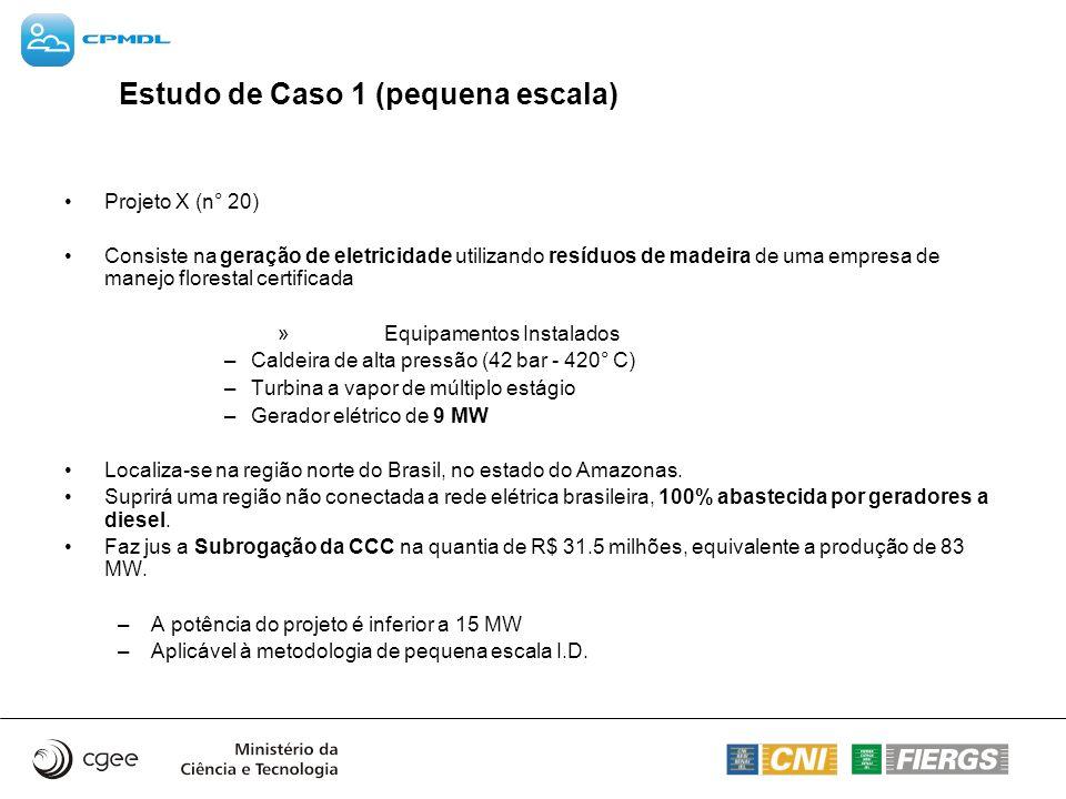 Estudo de Caso 1 (pequena escala)
