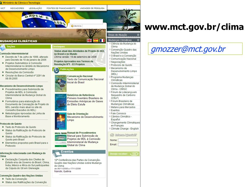 www.mct.gov.br/clima gmozzer@mct.gov.br