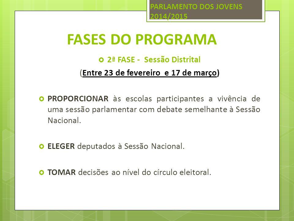 2ª FASE - Sessão Distrital