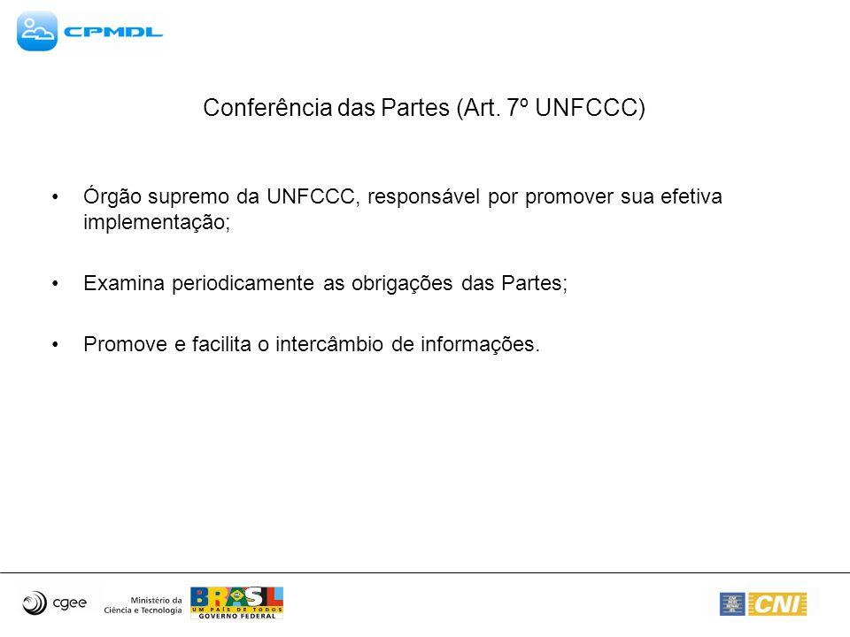 Conferência das Partes (Art. 7º UNFCCC)