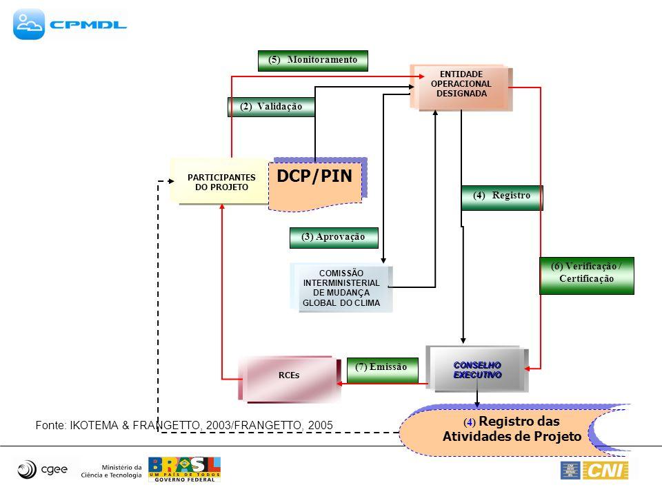 DCP/PIN (4) Registro das Atividades de Projeto