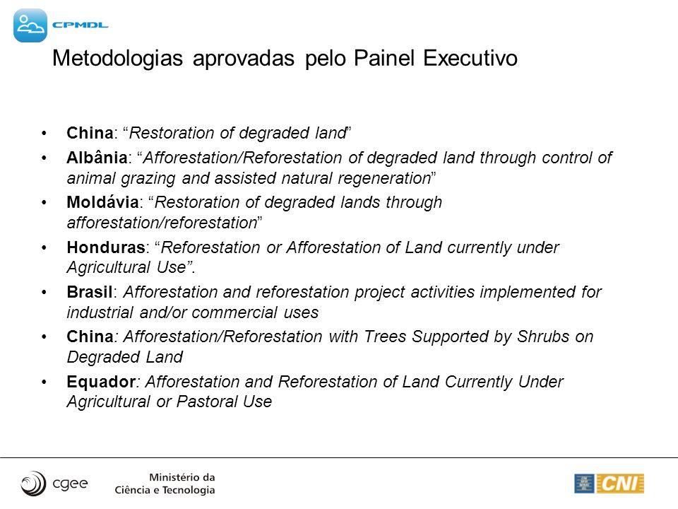 Metodologias aprovadas pelo Painel Executivo