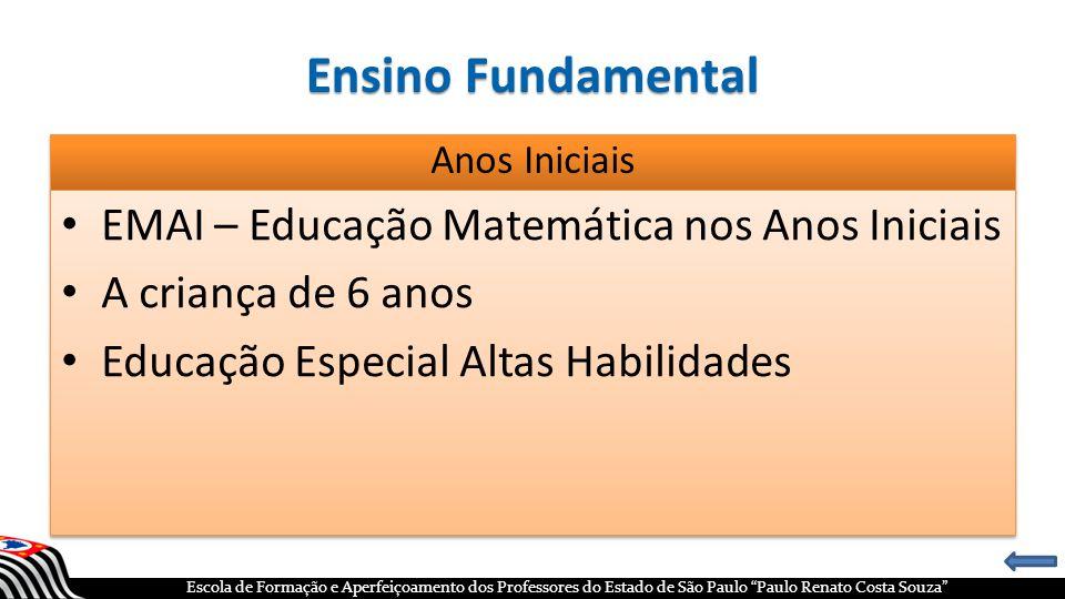 Ensino Fundamental EMAI – Educação Matemática nos Anos Iniciais