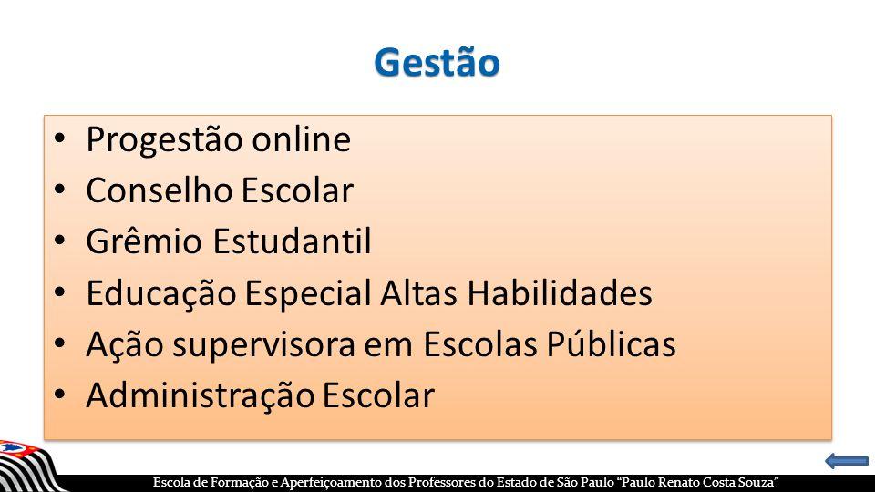 Gestão Progestão online Conselho Escolar Grêmio Estudantil