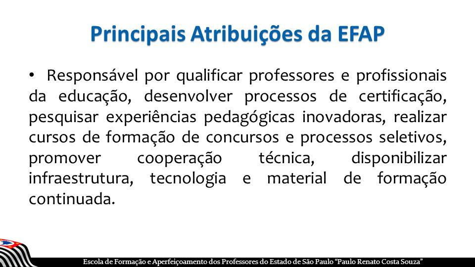 Principais Atribuições da EFAP