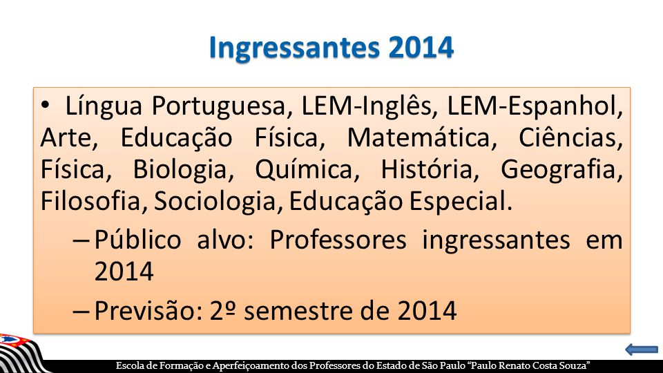 Ingressantes 2014
