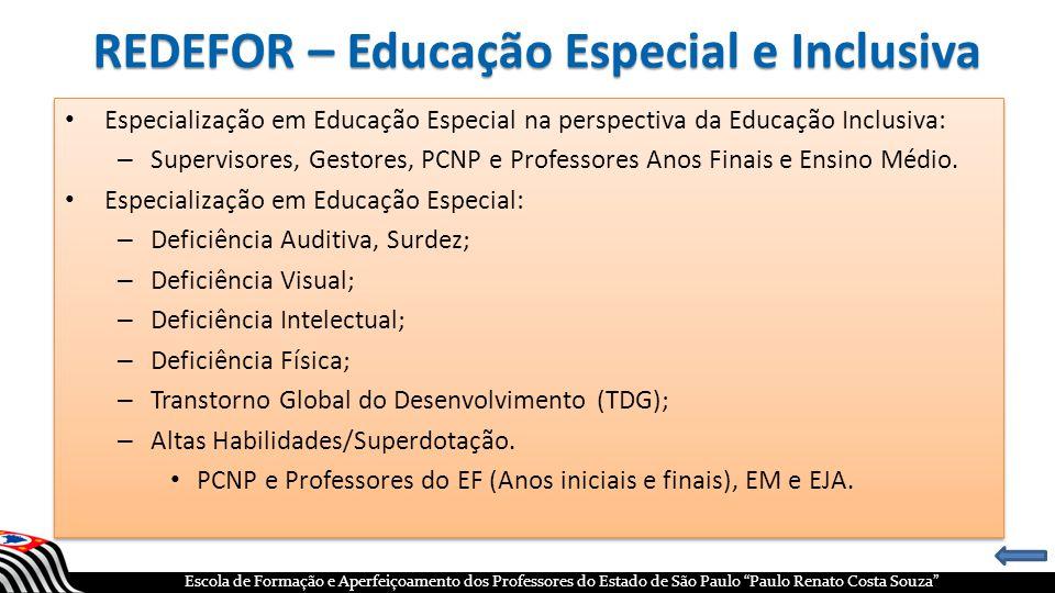 REDEFOR – Educação Especial e Inclusiva
