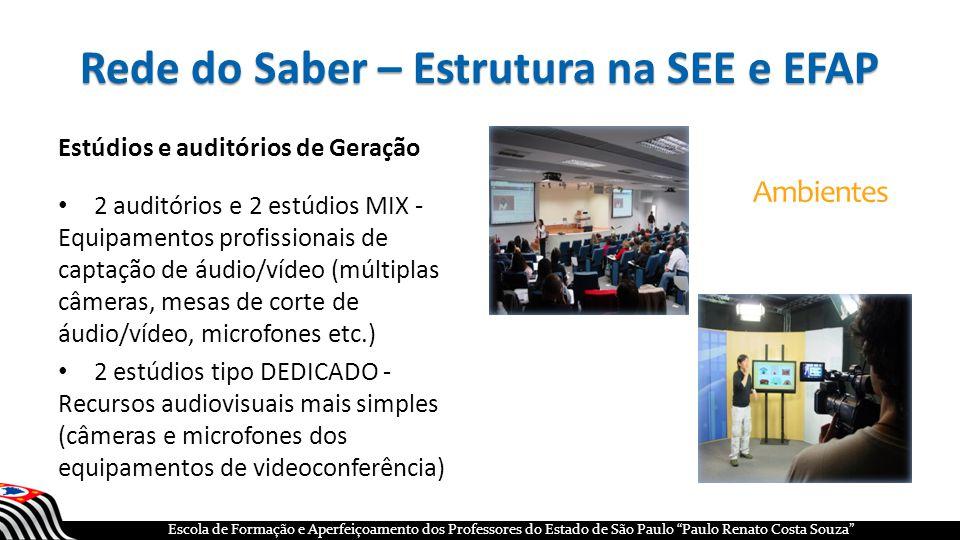 Rede do Saber – Estrutura na SEE e EFAP