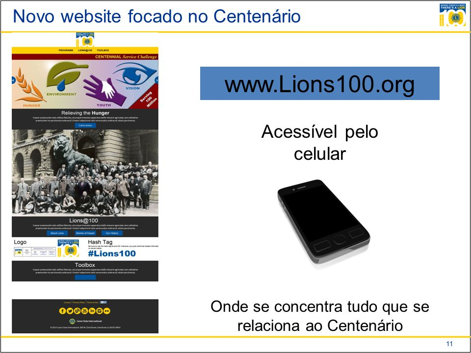 Novo website focado no Centenário