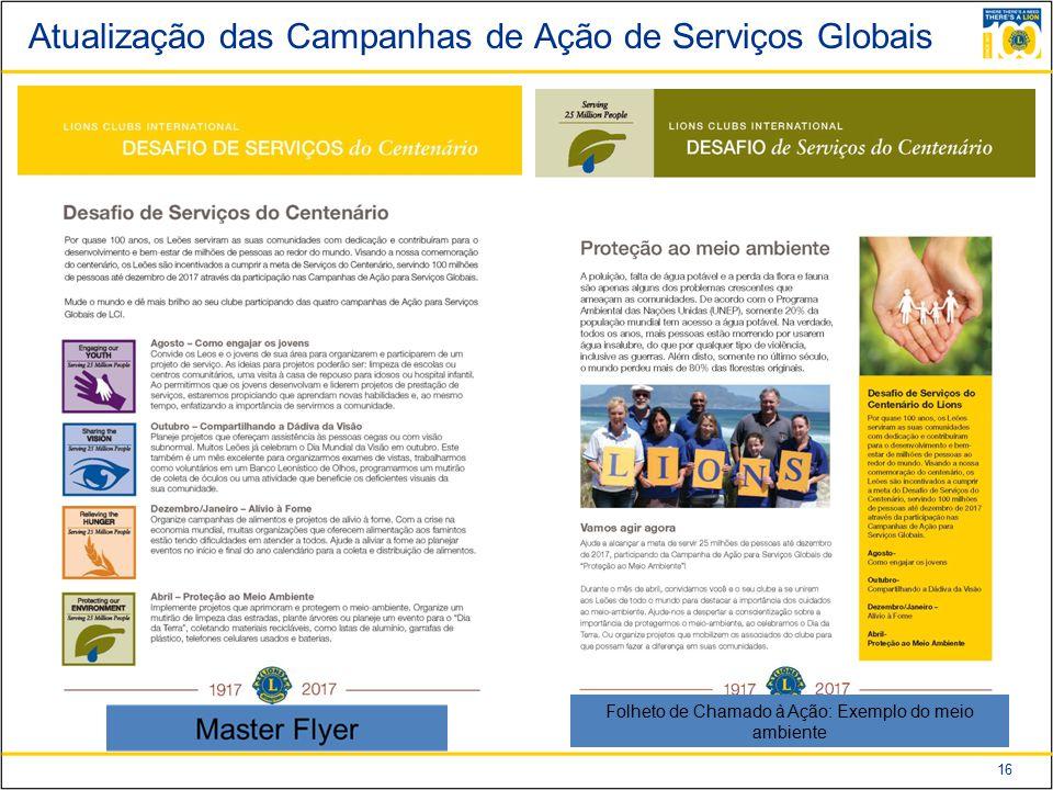 Atualização das Campanhas de Ação de Serviços Globais