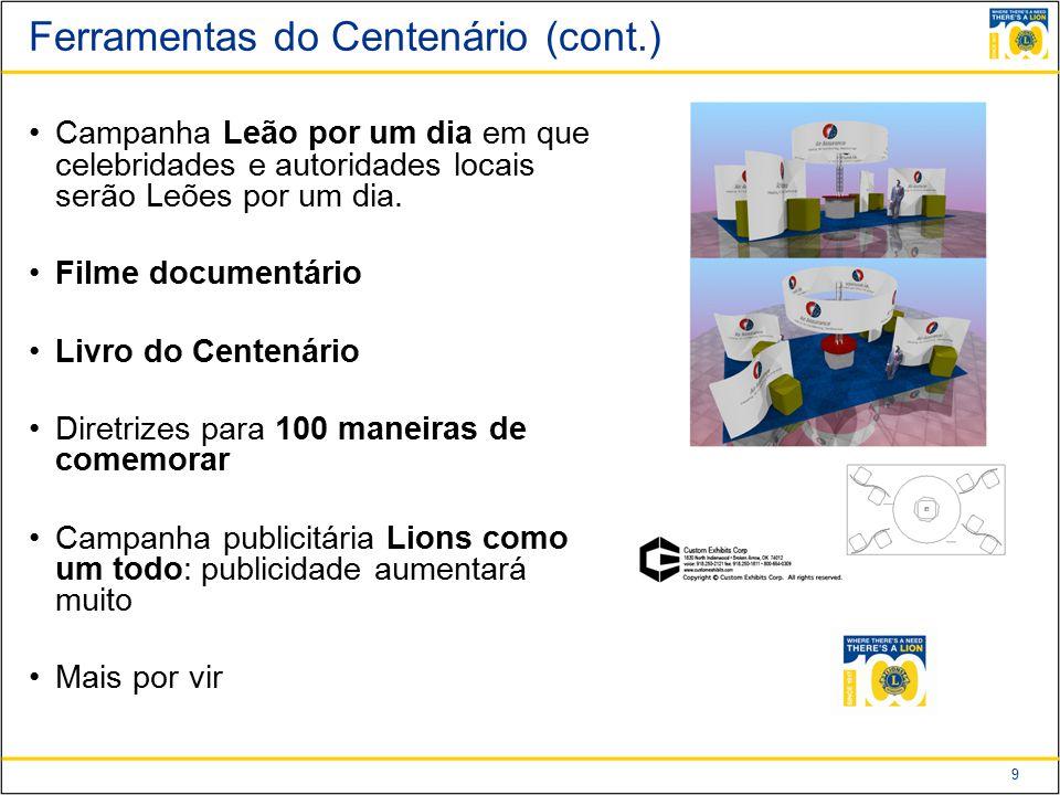 Ferramentas do Centenário (cont.)