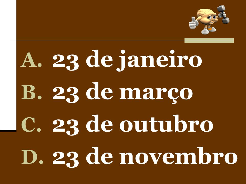 23 de janeiro 23 de março 23 de outubro 23 de novembro