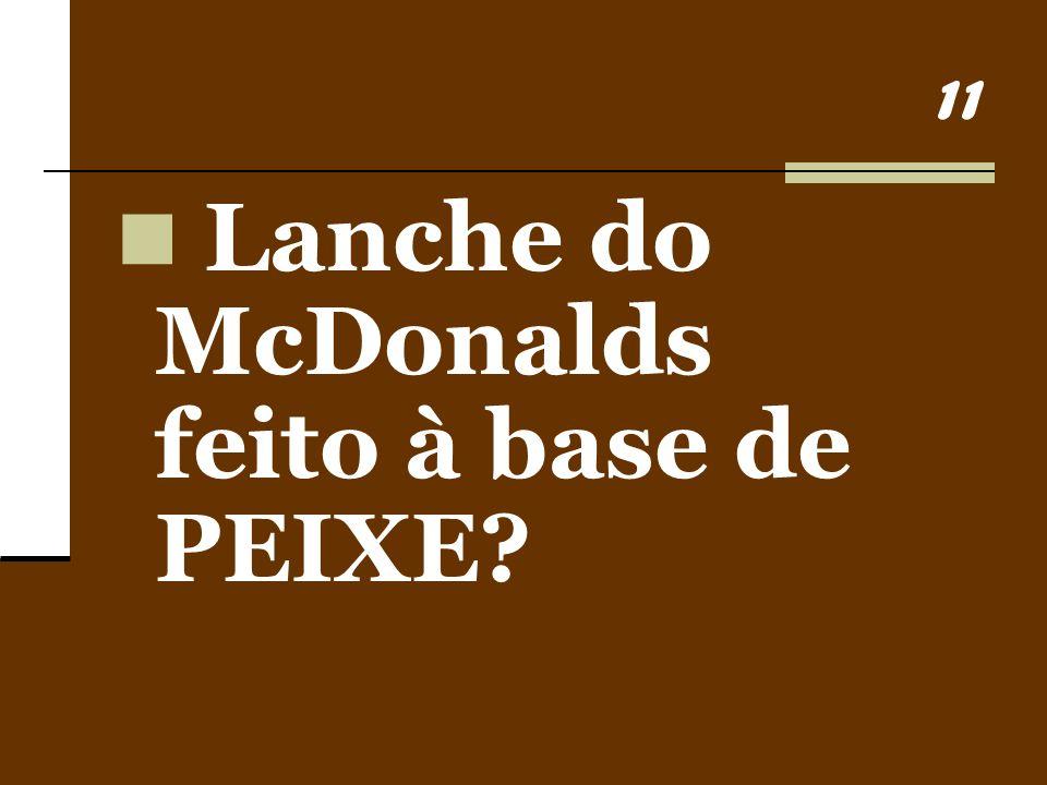 Lanche do McDonalds feito à base de PEIXE