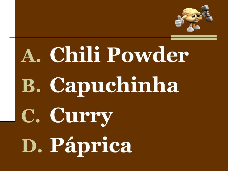 Chili Powder Capuchinha Curry Páprica