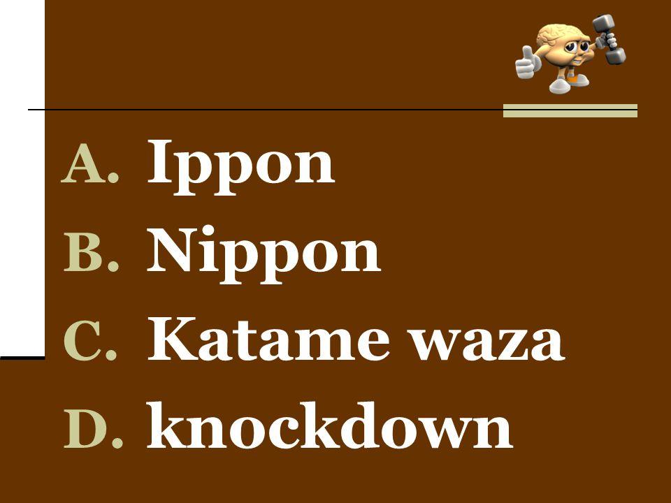 Ippon Nippon Katame waza knockdown